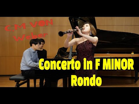 See video  Weber Clarinet Concerto no. 1 in f minor 3rd movement