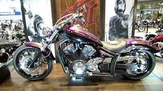 7. 2014 Yamaha Stryker Customized with Star Custom Accessoires-  Walkaround - 2013 NY Motorcycle Show