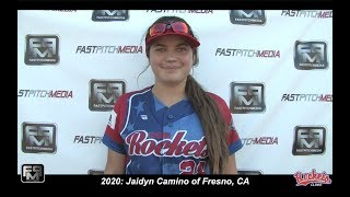 2020 Jaidyn Camino First Base and Outfield Softball Skills Video