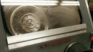 Vapor Blasting Restoration of BMW Rim with Glass Beads
