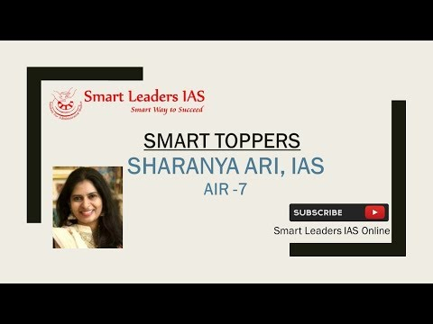 IAS TOPPER - 2015-16, Ms. SHARANYA ARI (AIR-7), Tamil Nadu Rank-1
