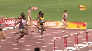 100 Metres Hurdles women World Championships Beijing 2015Danielle Williams(JAM)       12.57 PB 0.142Cindy Roleder(GER)              12.59 PB 0.145Alina Talay(BLR)                   12.66 NR 0.146