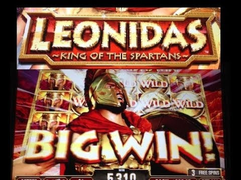 LEONIDAS ~KING of the SPARTANS~  slot machine HUGE BONUS WIN!