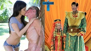 Top 10 Amazing & Weird Couples That Prove Love Is Blind - Unbelievable Couples Wedding