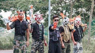 Video MASK Nerf War : Special Warrior Alpha Nerf Guns Fight Attack Criminal Group Mask Bandits Guns Nerf MP3, 3GP, MP4, WEBM, AVI, FLV September 2018