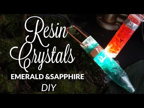DIY Resin Crystals Emerald Sapphire Amethyst Pendant ( without grinding)