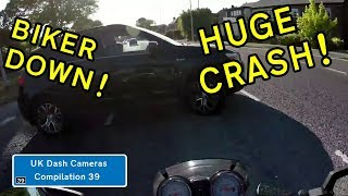 UK Dash Cameras - Compilation 39 - 2018 Bad Drivers, Crashes + Close Calls