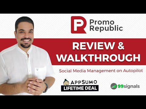 Watch 'PromoRepublic Review - Social Media Content Creation & Automation Tool [+ AppSumo Deal] - YouTube'