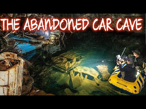 THE GOONIES ADVENTURE 100S 70S CARS ABANDONED DEEP IN THE CAVES (I CLIMBED THE CARS)