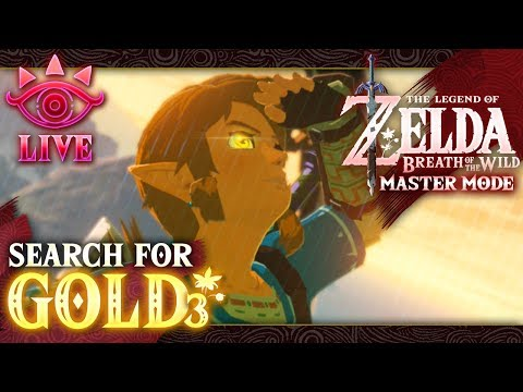 The Search for GOLD Enemies! Zelda: Breath of the Wild (Master Mode) LIVE (видео)