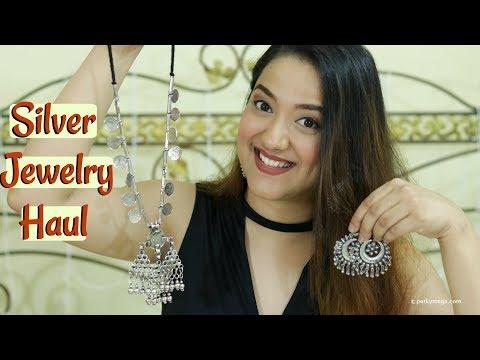 Online Silver Junk Jewellery Haul   Online Jewelry Shopping   Perkymegs