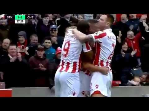Stoke City vs Chelsea 1 2 2017 all goals Highlights EPL