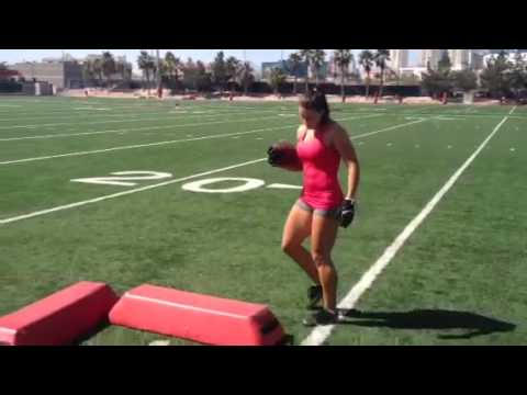 LFL players train with NFL Running Back