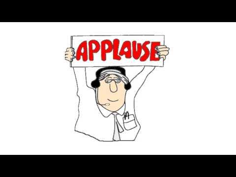 Звуки поздравлений и аплодисментов