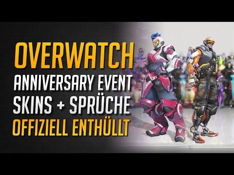 ANNIVERSARY EVENT SKINS + SPRÜCHE ENTHÜLLT | Soldier 76, Zarya, Pharah, Bastion ★ Overwatch Skins