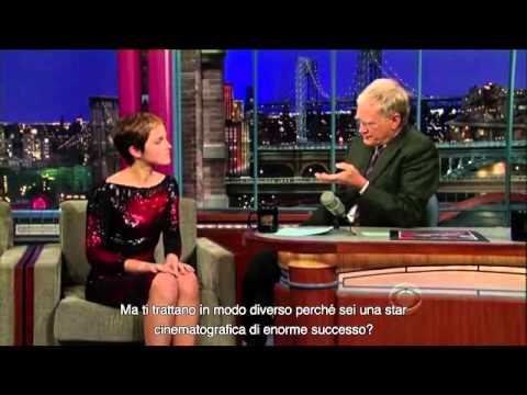 Emma Watson al Late Show di David Letterman SUB-ITA