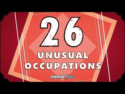 Youtube - A weekly show where knowledge junkies get their fix of trivia-tastic information. This week, Elliott Morgan hosts and shares some unusual occupations. Mental Floss Video on Twitter: http://www.twi...
