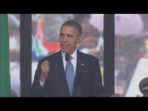 president - Subscribe to ITN News: http://bit.ly/itnytsub Barack Obama has said that Nelson Mandela