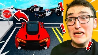 Playing VEHICLE SIMULATOR Without BREAKING LAWS! (Roblox)