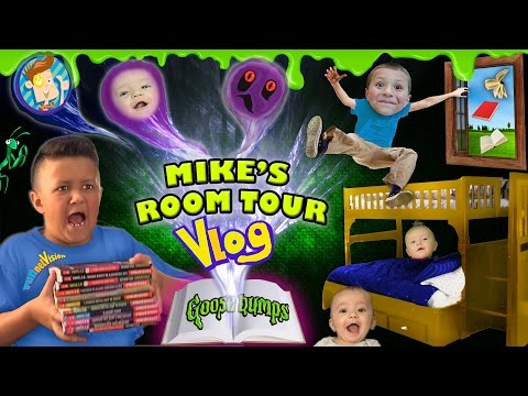HOUSE TOUR 2.0: Mike's Room Tour gives us Goosebumps + Shawn Gets Sneaky! (FUNnel Vision Vlog) (видео)