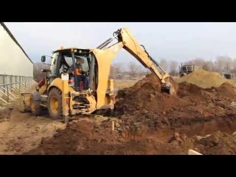 Подготовка фундамента под зерносушилку АО Агропромтехника