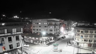 Thimphu, the capital city of Bhutan, Live camera showing main traffic square in Norzin Lam.