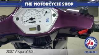 4. 2007 Vespa LX150 purple