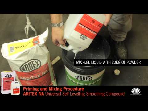 ARDITEX NA - Substrate Priming and Mixing Procedure