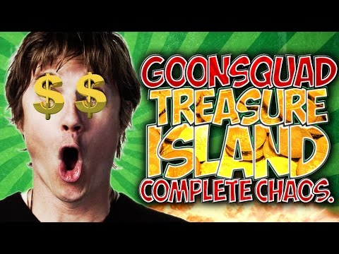 "MINECRAFT: #GOONSQUAD TREASURE ISLAND!! COMPLETE CHAOS! ""FUNNY MOMENTS"" & FAILS!!"