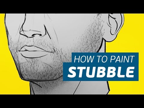 Beard styles - How to Paint STUBBLE, Beards, and 5 O'Clock Shadows (With FREE BRUSHES!)
