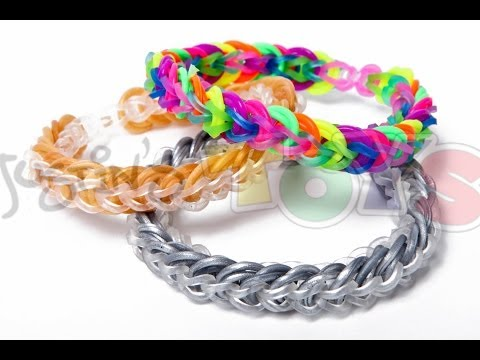 Rainbow Loom – Cap Link Chain – Easy Design Tutorial