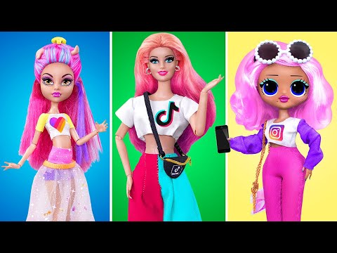 18 Barbie and LOL Surprise DIYs