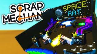 Scrap Mechanic CREATIONS - Fully-Functioning PINBALL MACHINE!  - Scrap Mechanic Gameplay