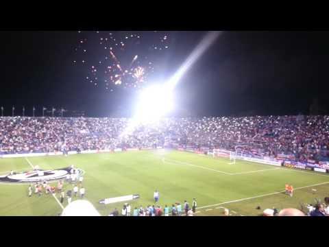 Así recibió la hinchada de Nacional a su equipo frente a Rosario Central. - La Banda del Parque - Nacional