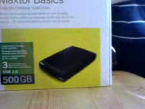 Unboxing Maxtor Basic 500 Gig USB HardDrive