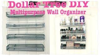 DOLLAR TREE DIY MULTIPURPOSE WALL ORGANIZER || AMAZING Price $5 Only