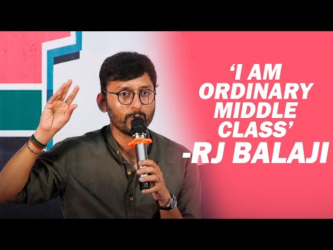 FIRST Time : RJ Balaji Sentimental Speech about his LIFE | LKG