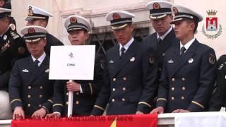 (Parata delle Marine estere e ricevimento al Palazzo Comunale)