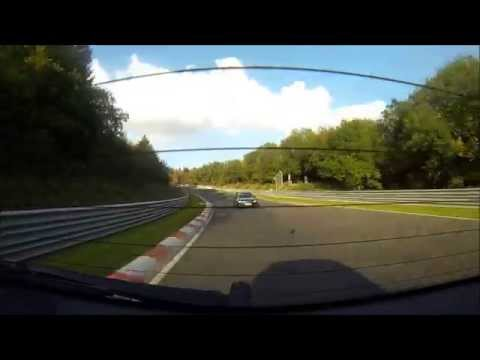 Nürburgring Nordschleife Touristenfahrten BMW 120d back window view (видео)