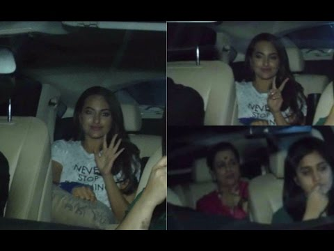 Sonakshi Sinha With Her Family Spotted At Light Box