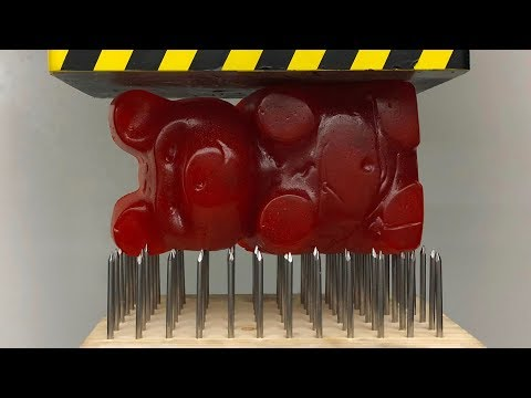 EXPERIMENT GIANT GUMMY BEAR vs Nail Bed (HYDRAULIC PRESS 100 TON) - Thời lượng: 3:54.