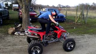 Video ADAMS FIRST TIME KICK START 04 HONDA TRX 450R MP3, 3GP, MP4, WEBM, AVI, FLV Juni 2017