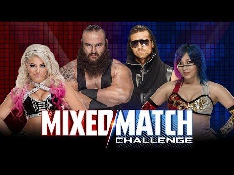 WWE Mixed Match Challenge: Asuka & The Miz Vs Alexa Bliss & Braun Strowman [SIMULATION] #WWE #MMC