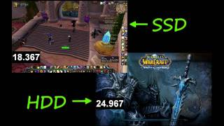 SSD Vs HDD World Of Warcraft Load Times