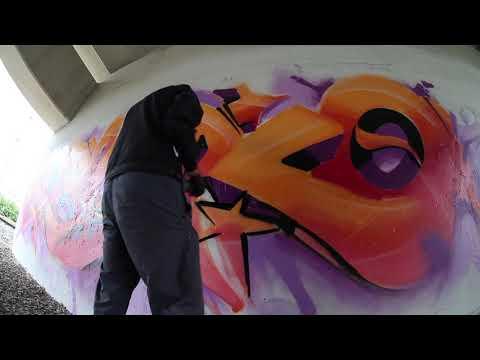 Rasko Orange Graffiti bombing in Moscow