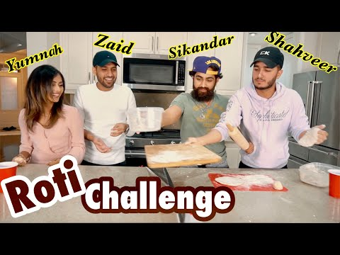 Making Roti Challenge With Zaid Ali And His Wife...