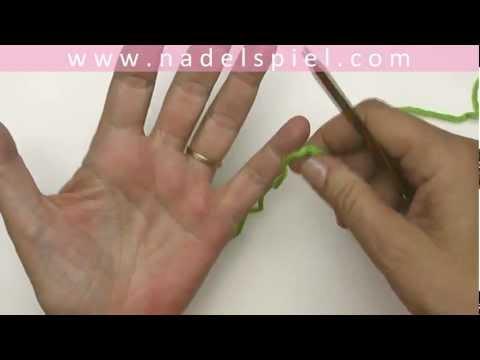Stricken lernen mit eliZZZa #02 * Maschenanschlag * Kreuzanschlag
