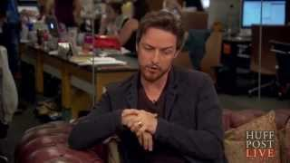 James McAvoy & me! - The Disappearance of Eleanor Rigby Interview (HuffPost Live)