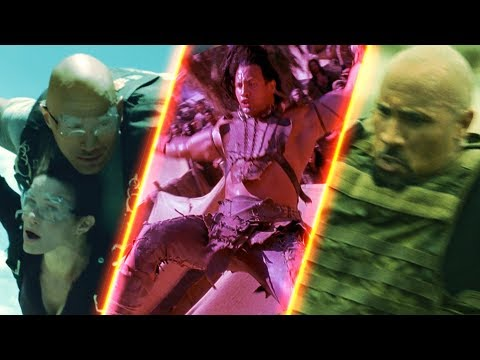 The Rock Falls Through His Movies