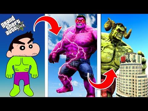 GTA 5 : Shinchan Upgrading Hulk To God Hulk in GTA 5 ! (GTA 5 mods)